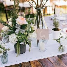 Romantic Summer Outdoor Wedding Montana Rustic Flower Centerpiece