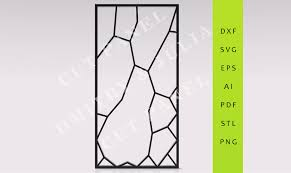 moaro privacy screen dxf svg eps ready to cut file cnc template