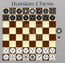 Russian Chess Layout On The Chessboard 12617 Download Royalty Free Vector Image