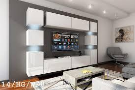 weiße möbel für wohnzimmer in hochglanz future 14