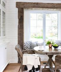 Love The Wood Beam Accents And Rustic Coastal Decor In This Living Room