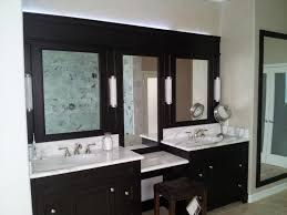 bathroom black wooden bathroom cabinet with table and double sink