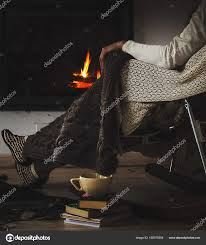 100 Rocking Chair With Books Chair With Knit Rug Books And Cup Of Tea Or Coffee Before