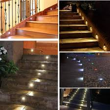 7colors 10pcs lots indoor and outdoor led step stair lighting