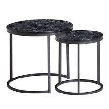 wohnling design beistelltisch 2er set schwarz marmor optik