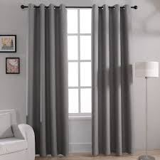 modern solid blackout curtains for bed room living room window
