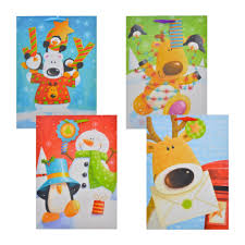 Voila Extra Large Whimsical Christmas Character Gift Bags