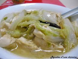 cuisiner le chou chinois cuit recettes d une chinoise chou chinois mijoté avec tofu 白菜炖豆腐