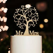 Cherry Wood Cake Toppertree TopperMr And Mrs Topperrustic Topperwedding Topperbeach Theme Toppers For Wedding