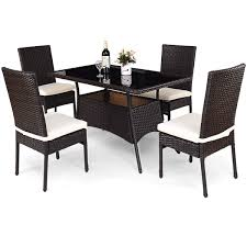 Amazon.com: Tangkula Patio Furniture, 5 PCS All Weather Resistant ... Annabelle Outdoor Garden Fniture All Weather Wicker Rattan 10 Home Decators Collection Naples Brown Allweather Amazoncom Luckyermore 4pack Patio Chairs Belham Living Bella Ding Chair Set Of 2 Contemporary 150 Cm Teak Table 6 Shop Havenside Hampton Allweather Grey Round Terrain Tangkula 5 Pcs Resistant Coral Coast Brisbane Open Inspired Bistro Saint Tropez Stackable Whitecraft S6501 By Woodard Sommerwind Wickercom