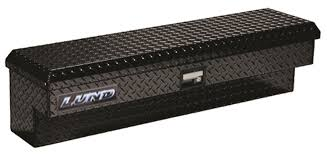 Lund 60-Inch Side Bin Truck Tool Box, Single Lid, 3-Finger Latch ...