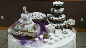 Rustic Wedding Cake Cupcake Tree Fall