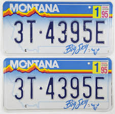 1995 Montana Truck License Plates | Brandywine General Store