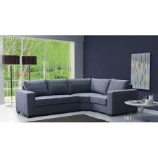 canapé d angle 4 places lili gris angle droit achat vente