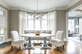 Dining Room Bay Window Decorating Ideas Oval Pedestal Table In Transitional Space