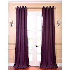 Burgundy Grommet Blackout Curtains by Purple Panel Curtains United Curtain Voile Curtain Panel Pair
