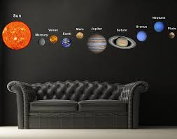 amazon com pop decors fabric wall sticker solar planets baby