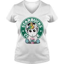 Unicorn Drink Starbucks Coffee V Neck