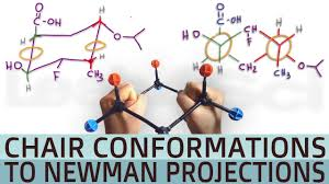 Chair Conformations Of Cyclohexane by Cyclohexane Chair Conformation To Double Newman Projection Youtube