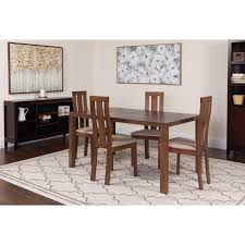 Flash Furniture Madison 5 Piece Walnut Wood Dining Table Set With Vertical  Wide Slat Back Wood Dining Chairs - Padded Seats Marian Ding Chair In Tufted Camgrey Fabric Set Of 2 By Madison Park Hipvan Pieces Zemke Grey 24w X 23d 37h Amazoncom Madison Park Signature Cooper French Country X Back Chairs Black Leather Wazo Fniture Urban Elevation Upholstered Homesullivan Brown 405425akspu2p The Home Depot Peyton 2piece 2019 Products