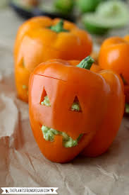 Picture Of Pumpkin Throwing Up Guacamole by Guacamole Stuffed Pumpkin Peppers The Plant Philosophy
