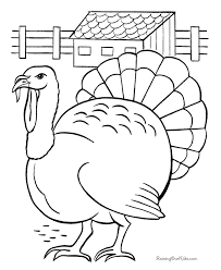 Free Turkey Coloring Pages 12 Page