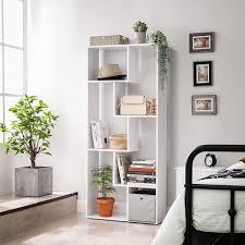 vasagle bücherregal modernes standregal wohnzimmerregal büroregal pflanzenregal raumteiler wohnzimmer schlafzimmer homeoffice weiß lbc64wt