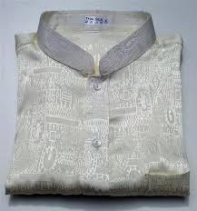 mens jacquard weave mandarin collar thai silk shirts short u0026long