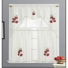Purple Grape Kitchen Curtains by Apple Kitchen Curtains Everything Log Homes