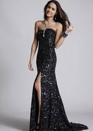 shail k kl3228l black strapless sequin long homecoming dresses