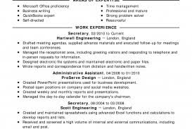 Resume Templates Secretary Example Classic Full Examples Of Unbelievable A How To Do For Job Title