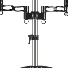 Franklin Iron Works Floor Lamp by Dual Monitor Mount Desk Stand Adjustable Arm Tilt Swivel Rotate