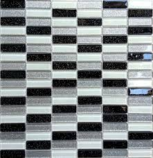 black silver white glitter glass mosaic wall tiles diy project