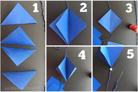 DIY Steps Blue Gradation Lozenges Garland