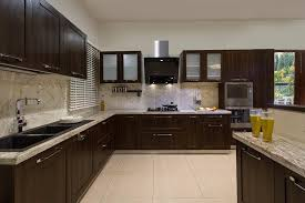 Captivating Dark Brown And Top Granite Indian Kitchen Design With Best Modular