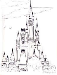 Frozen Cinderella Castle And Ice Coloring Page