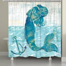 Laural Home Vibrant Mermaid Shower Curtain Free Shipping Today