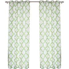 Geometric Pattern Grommet Curtains by 95