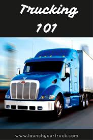 100 Trucking Industry Learn The Basics Of The Trucking Industry 101 Launch