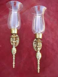 polished brass wall sconces for candles candle sconce pair w
