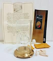 Wolfard Hand Blown Glass Oil Lamps by Wolfard Oil Lamp 6 U201d Tall Hand Blown Glass Brass Base Usa Made