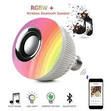smart wireless bluetooth speaker led rgb bulb dimmable e27