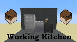Minecraft Kitchen Ideas Ps4 by Working Kitchen In Minecraft Oven Stove Fridge And Sink