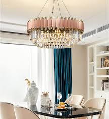 große sache 52 luxus führte kristall kronleuchter beleuchtung postmodernen rosa nordic glanz indoor le für wohnzimmer schlafzimmer esszimmer