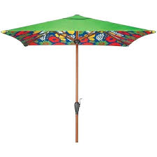 Floral Patio Umbrella A Liked On Featuring Home Outdoors Umbrellas Flower Stems Outdoor