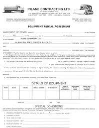 Rental Agreement | Inland Equipment Sales & Rentals Rent To Own