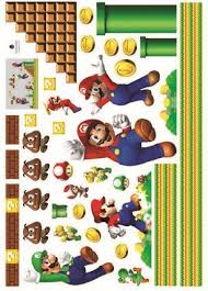 amazon com super mario bros wall decal decor peel nursery