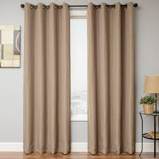 120 Inch Length Blackout Curtains by Softline Home Fashions Drapery Emmen Linen Panel