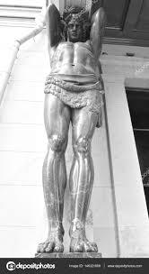 100 Atlant Sculpture The New Hermitage Stock Photo