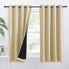 pony 100 verdunkelungsvorhang mit ösen 2 stücke blickdichte vorhänge für schlafzimmer ösenschal raum verdunkeln gardinen h 160 x b 132 cm